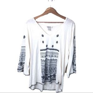 Lucky Brand Boho Top Size Large